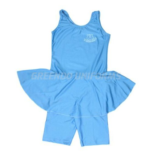 Swimming Costumeprinted Light Blue Skirt Type 800pj Greendo